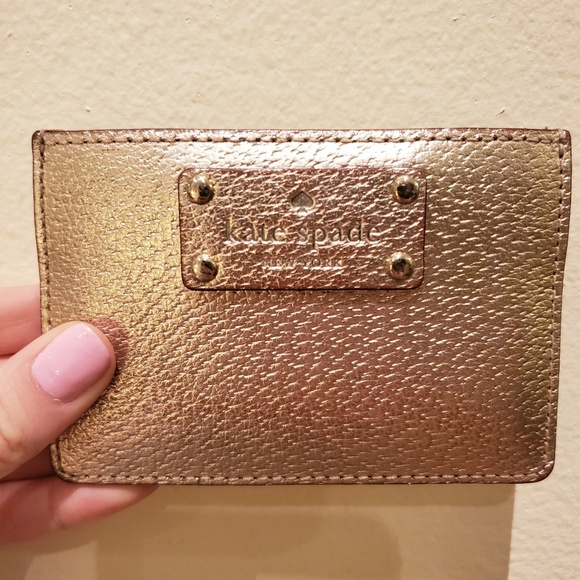 kate spade Accessories - Kate Spade Gold Card Holder